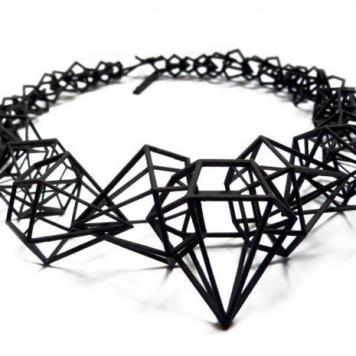 Stereodiamond necklace